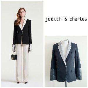 😍 Judith & Charles Wool Lamb Leather Blazer